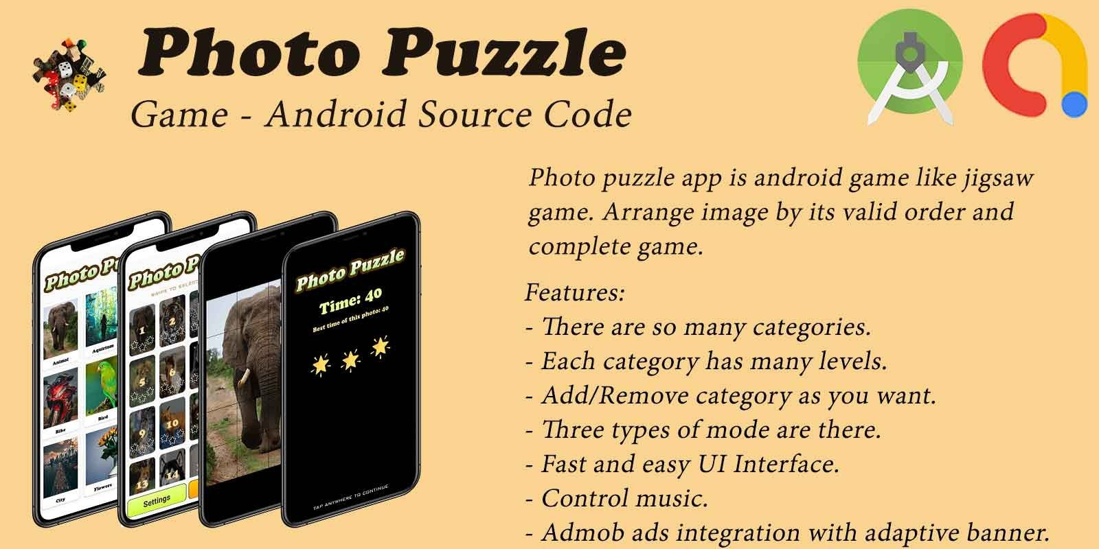Photo Puzzle - Android Source Code