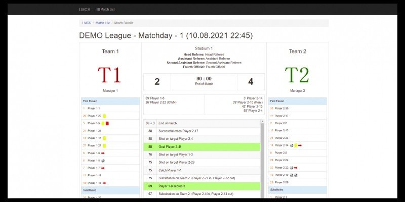 Live Match Commentary Script PHP