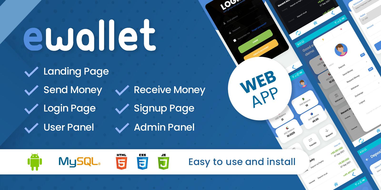 eWallet Android Web App
