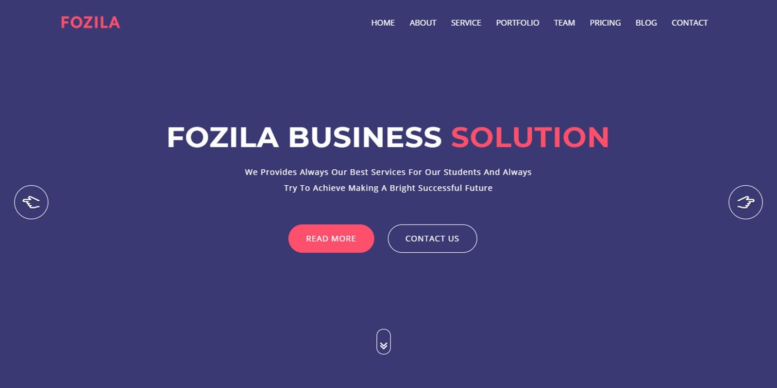 Fozila Consulting Business Template