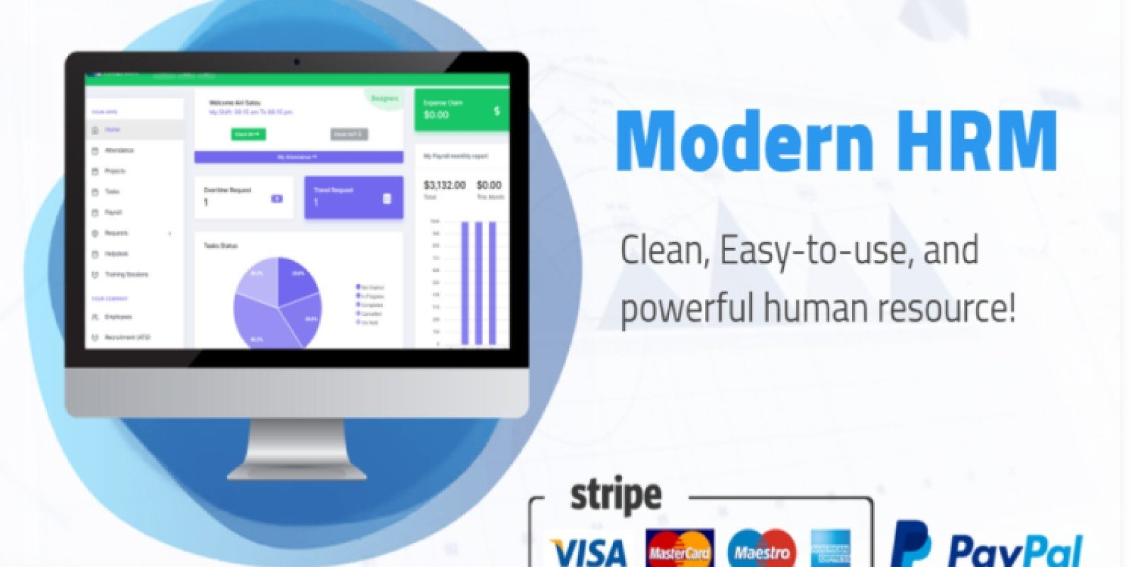 Modern HRM and Project Management Tool - PHP Scripts