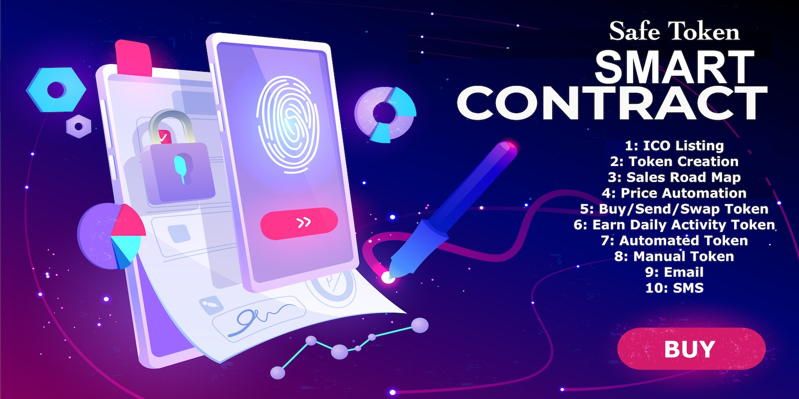 Safe Token Smart Contract - PHP Scripts