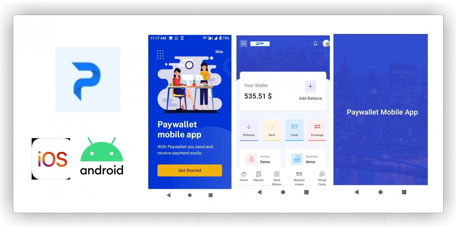 PayWallet - Mobile Progressive Web App Android And IOS