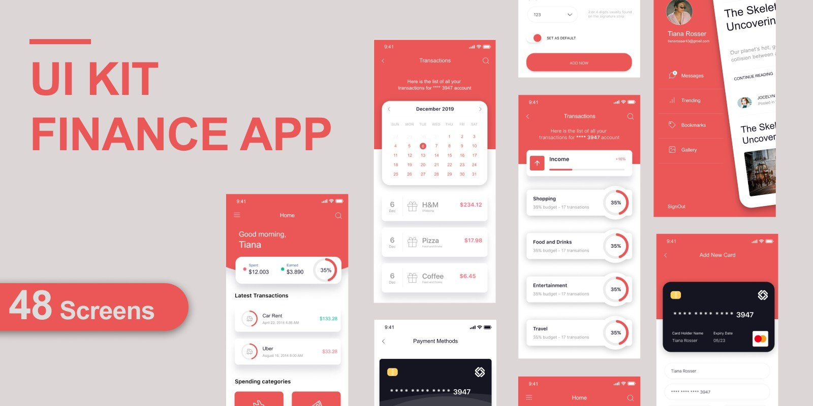 [Graphics] UI KIT Finance App - Clean And Modern Project