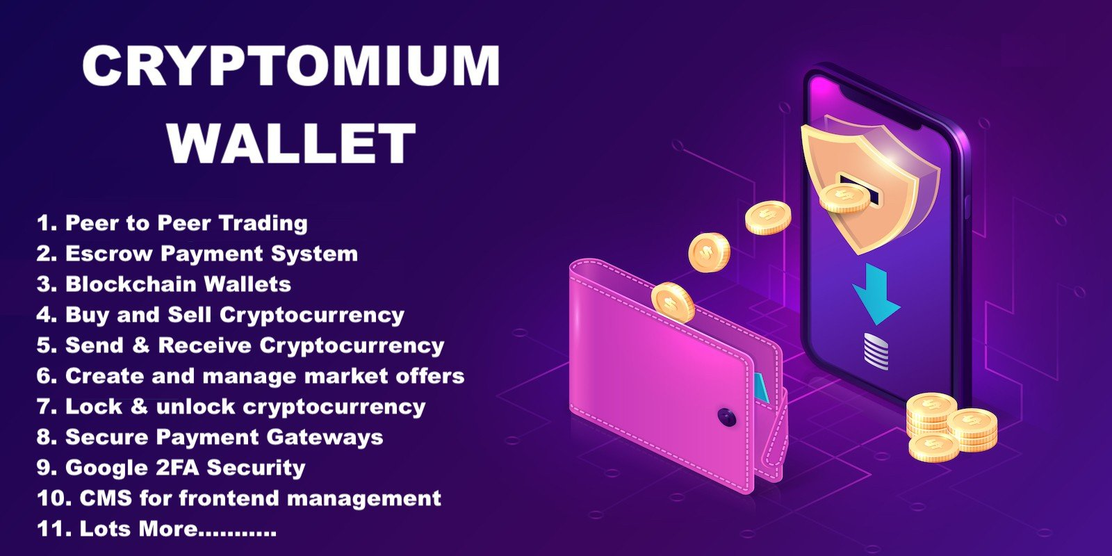 Cryptomium - Crypto Wallet System PHP Scripts