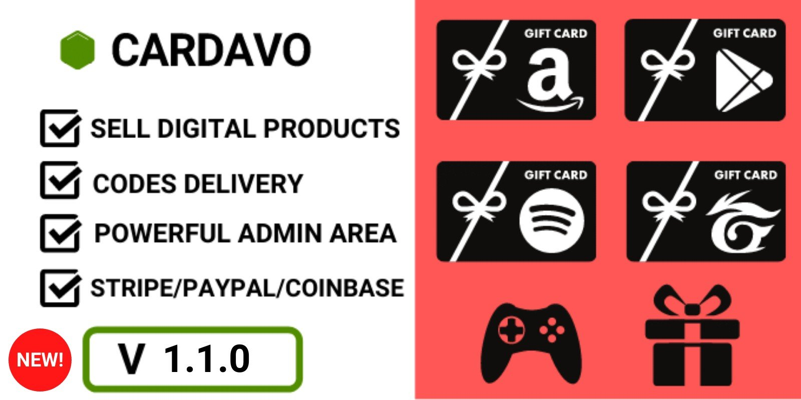 Cardavo - Sell Gift And Games Cards PHP Script